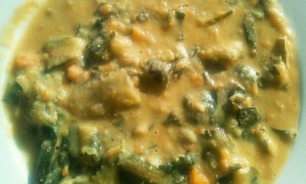 Zuppa veloce di ceci e cicoria