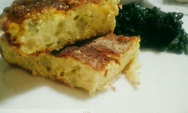 Frittata al forno con broccolo romano e pecorino