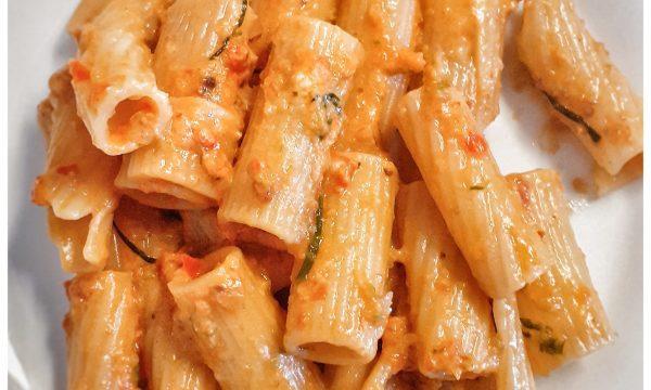 Rigatoni in crema di verdure , ricetta riciclo