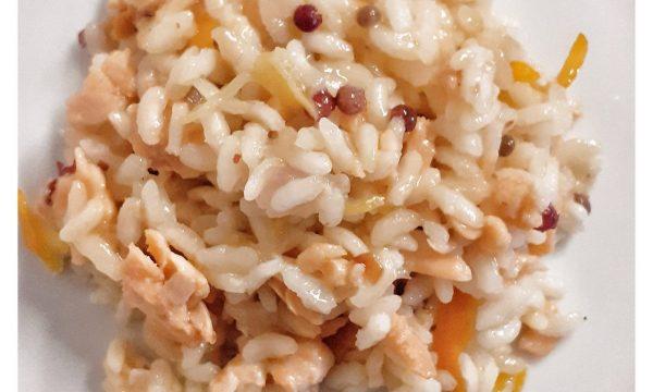 Salmone marinato agli agrumi per il risotto