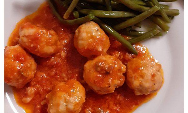 """Le mie """"meatballs"""" italiane di tacchino in salsa"""