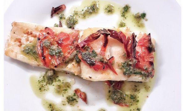 Baccalà arrostito con peperone crusco