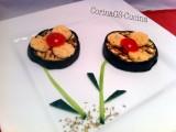 Fiori di melanzana-Ricetta antipasto-CorinaGS-Cucina