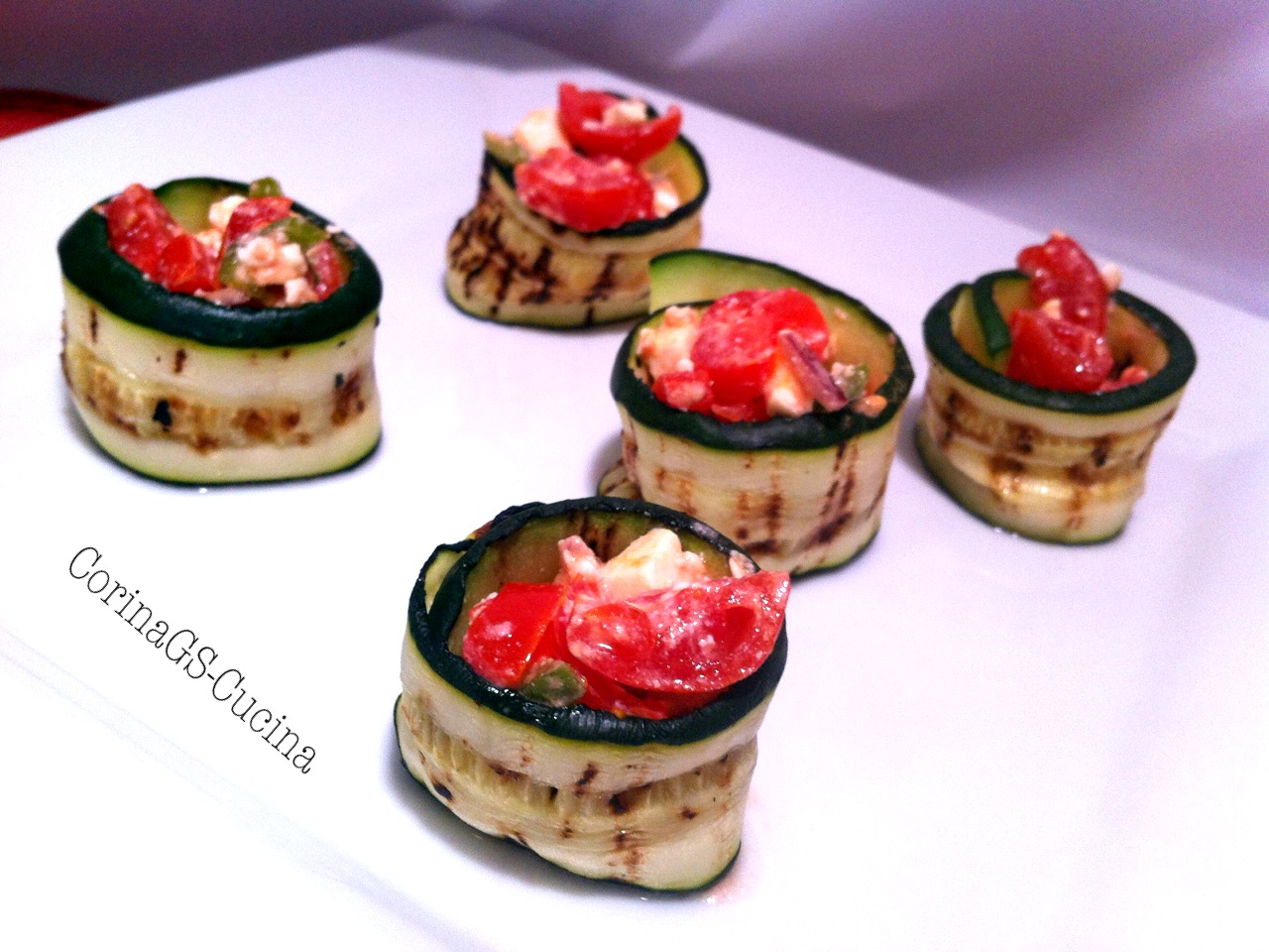 Maki di zucchine saporiti-Ricetta base zucchina-CorinaGS-Cucina