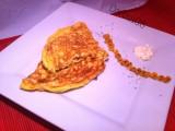 Omelette panna acida, cipolla e mais-CorinaGS-Cucina