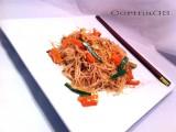 Spaghetti di riso con verdure e germogli di soia-CorinaGS
