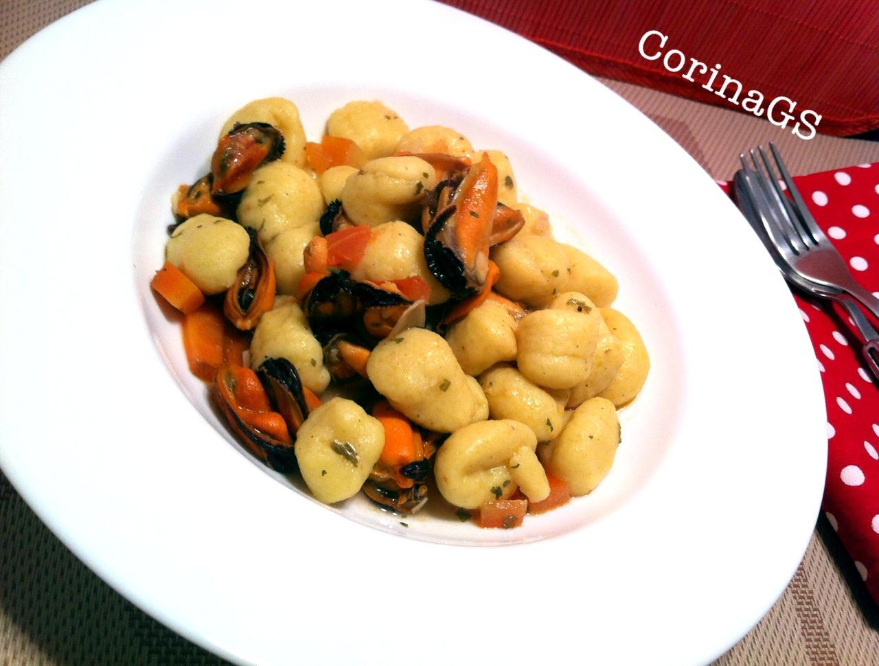 Gnocchi con sugo di cozze Ricetta base primo piatto CorinaGS