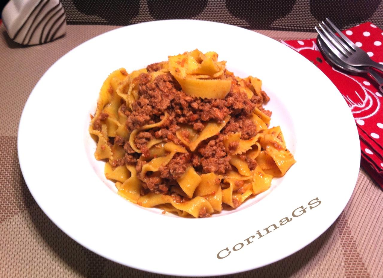 Pappardelle al ragu di carne|Ricetta primo piatto|CorinaGS