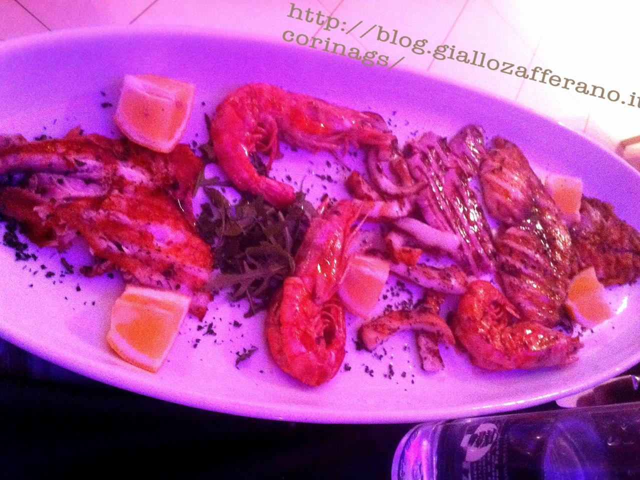 grigliata di pesce l'approdo ristorante