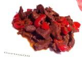 Fegato di maiale con pomodoro porro e peperoni|CorinaGS