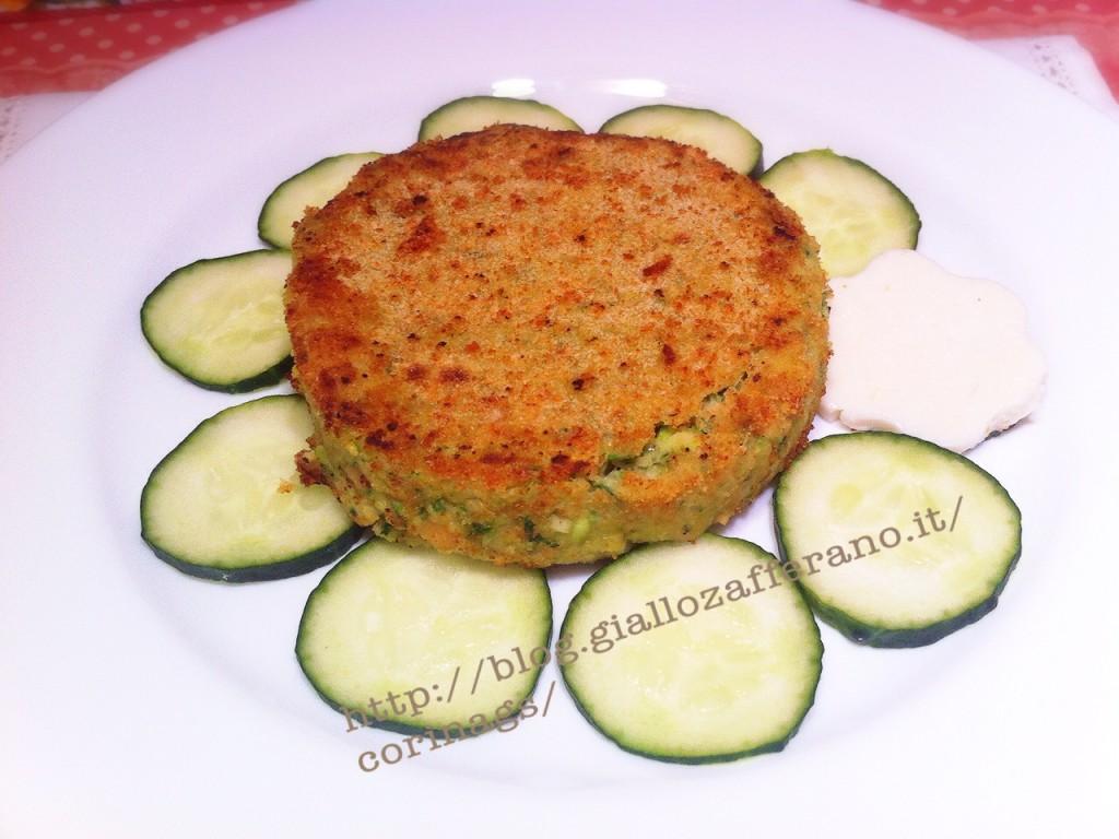 Hamburger vegetariani con zucchine e formaggio CorinaGS