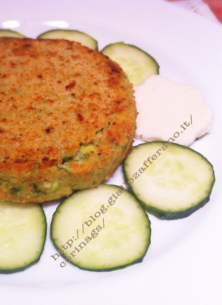 hamburger vegetariano zucchine immagine