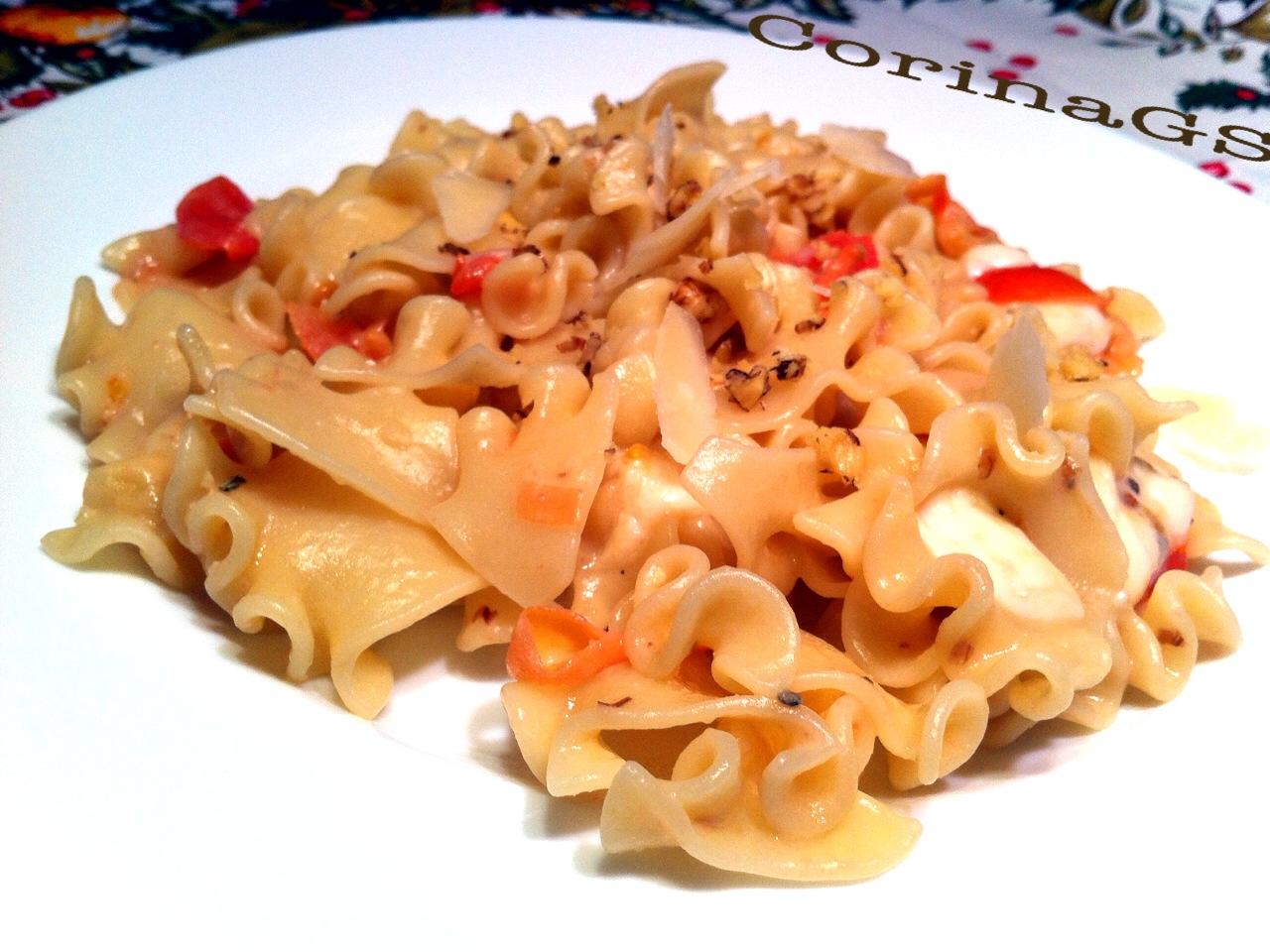 pasta artigianale al formaggio e noci|Ricetta primo piatto|CorinaGS