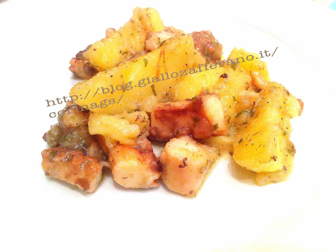 Polpo al vino con patate e spezie