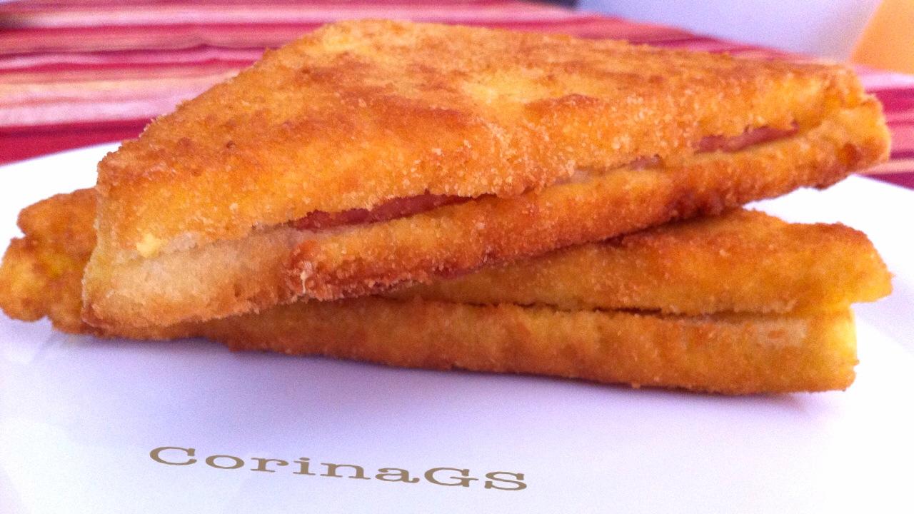 Tramezzini fritti|Ricetta tramezzini fritti|CorinaGS