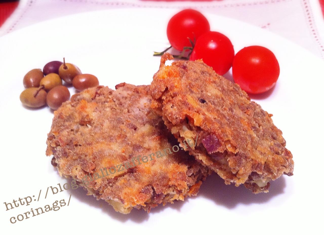 POlpette di lenticchie con olive e mozzarella|CorinaGS