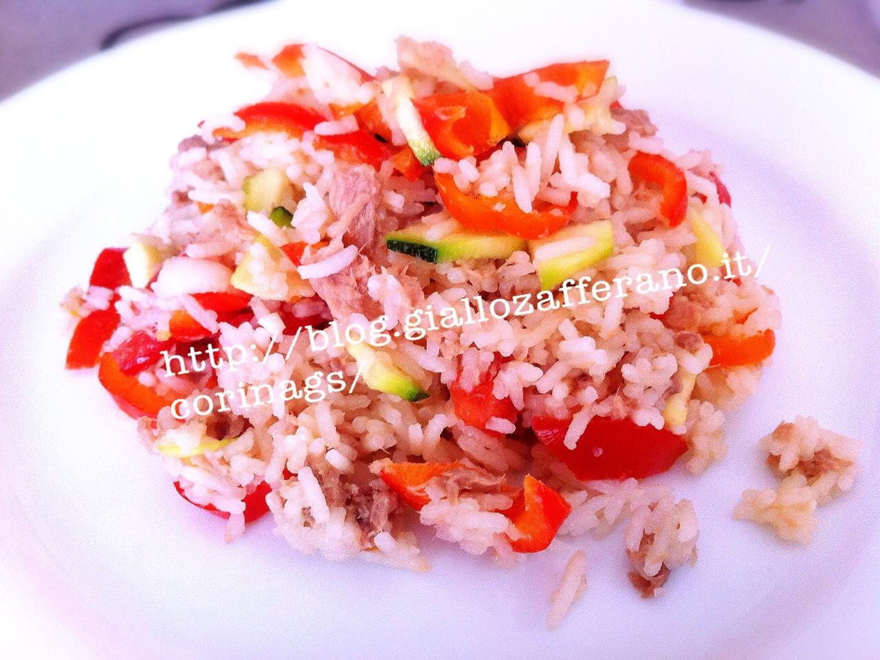 INsalata di riso basmati con verdure e tonno CorinaGS