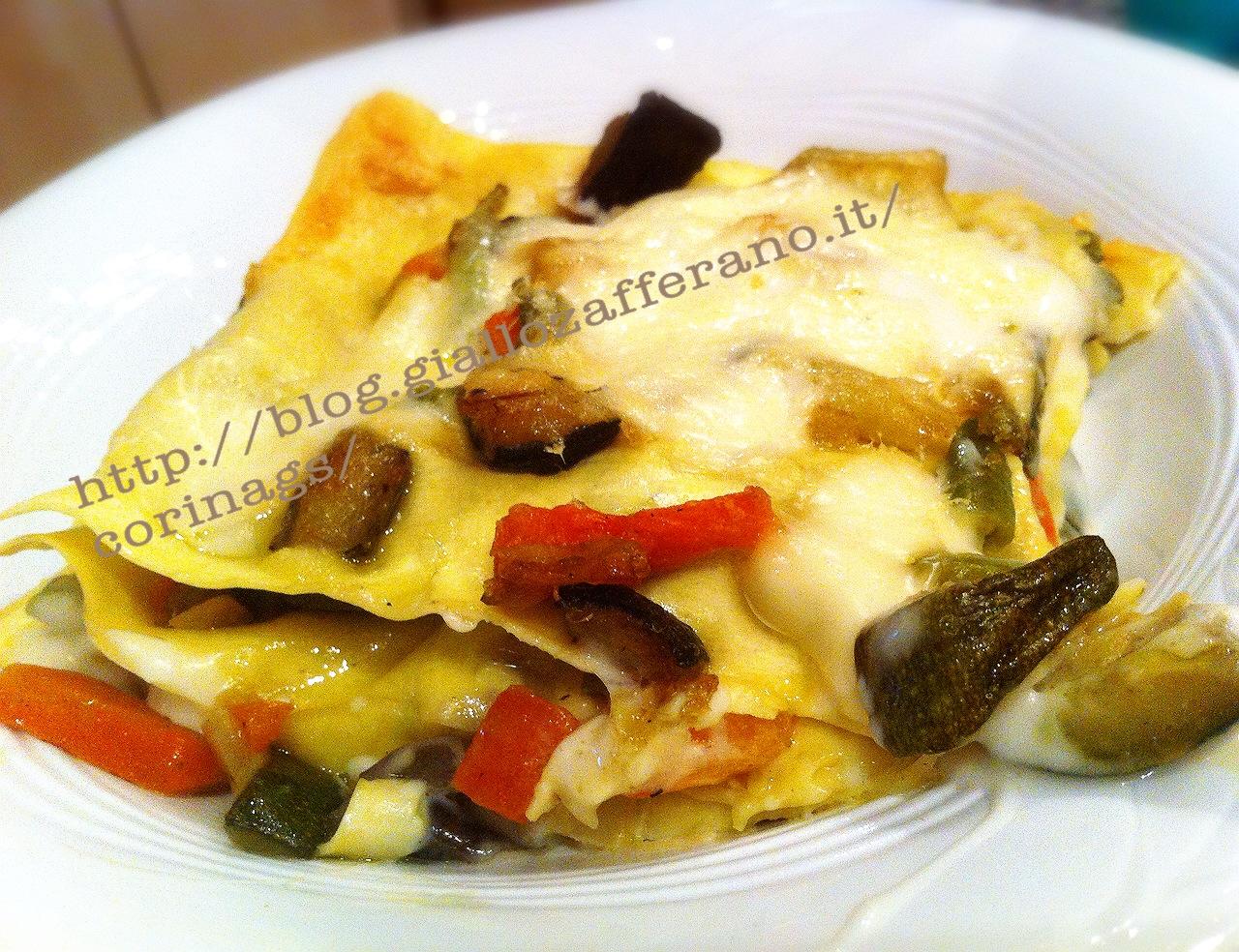 Lasagne vegetariane Ricetta vegetariana CorinaGS