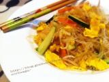Spaghetti soia con verdure e uova|CorinaGS