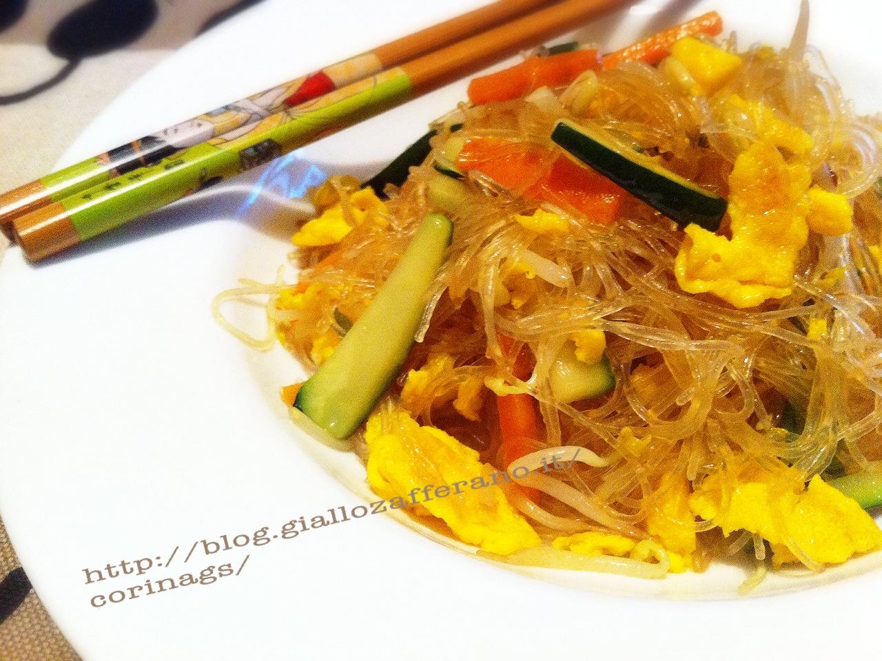 Spaghetti soia con verdure e uova CorinaGS