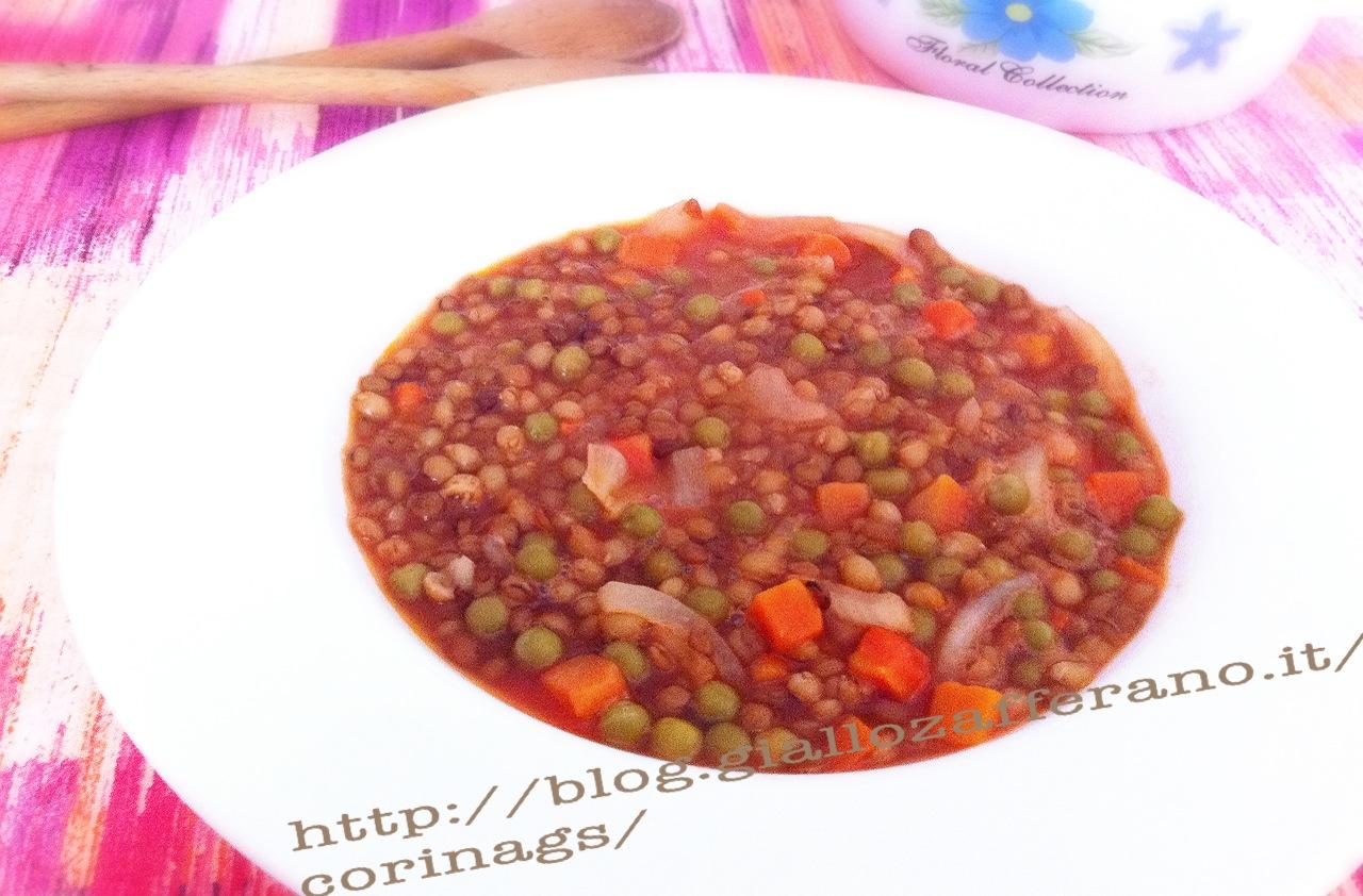 Zuppa di legumi e cereali Ricetta base zuppa CorinaGS