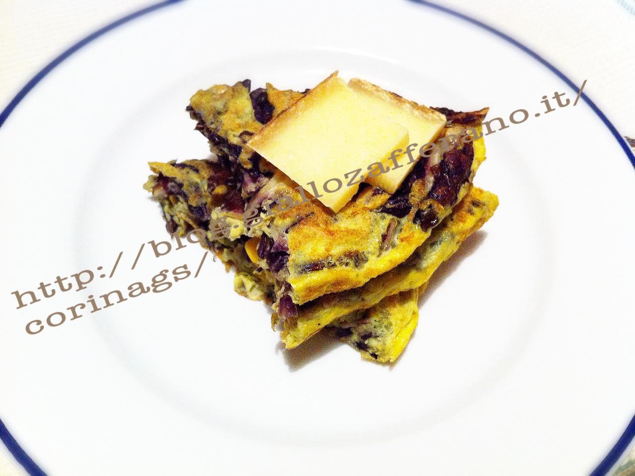 Frittata radicchio e formaggio|Ricetta base frittata|CorinaGS