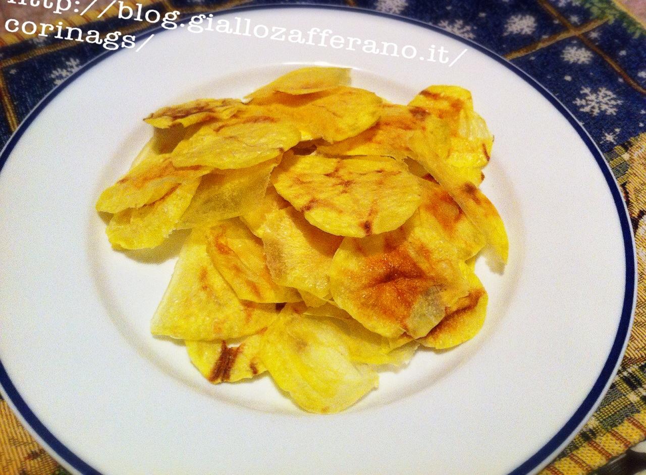 Patatine chips al microonde Patatine croccanti fai da te CorinaGS