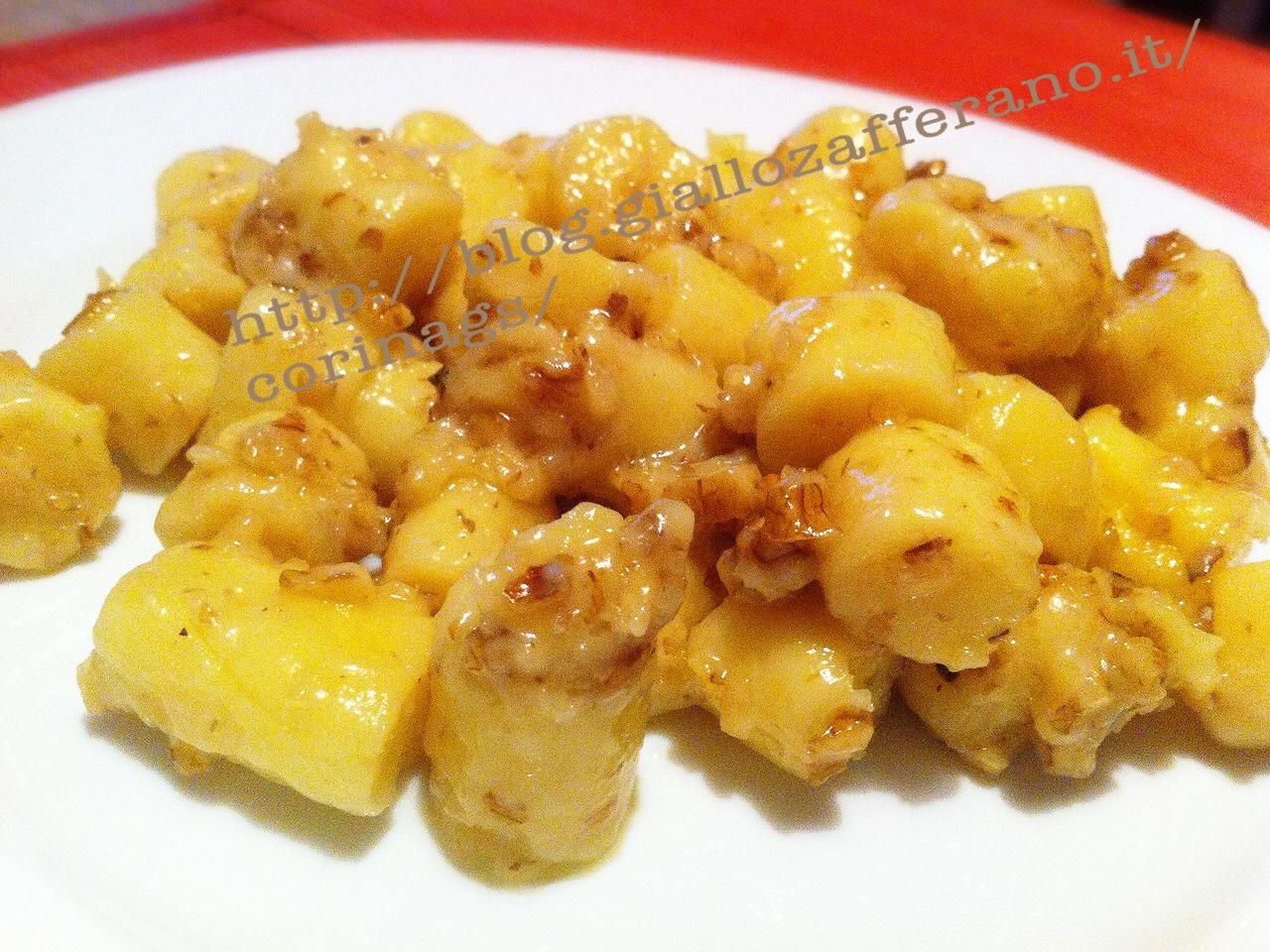 Gnocchi con formaggio, miele e noci|Ricetta primo piatto|CorinaGS