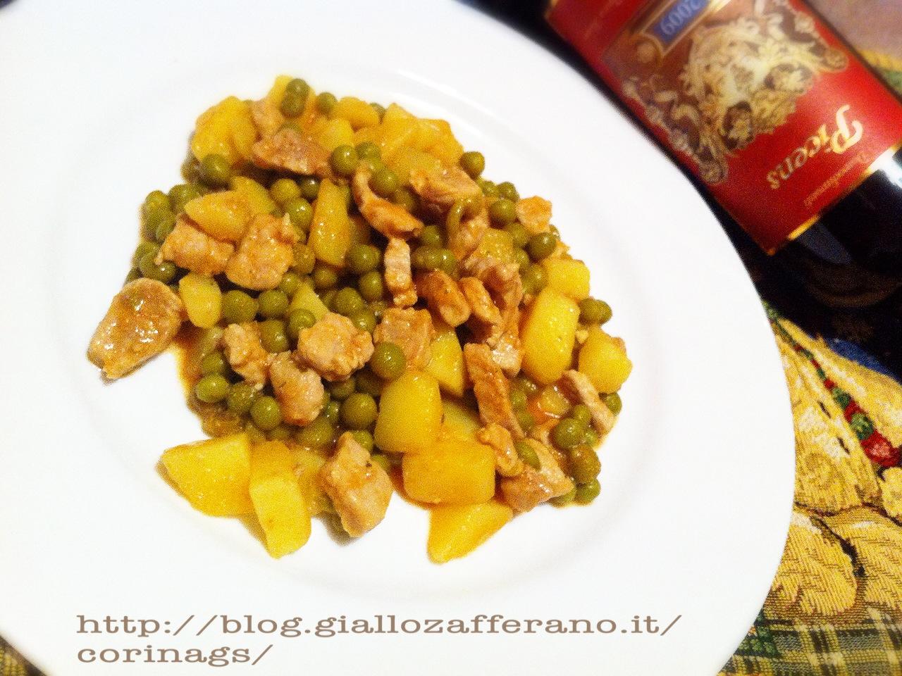 Pollo con piselli e patate al vino e curry CorinaGS