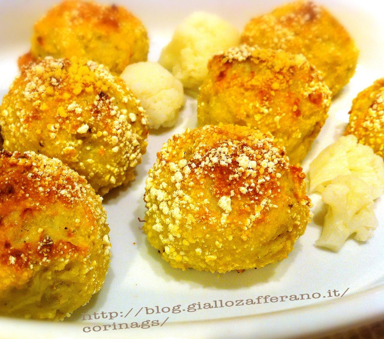 Polpette vegetariane di cavolfiore e curry al forno|CorinaGS