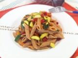 Penne di farro con zucchine e salsiccia affumicata|CorinaGS