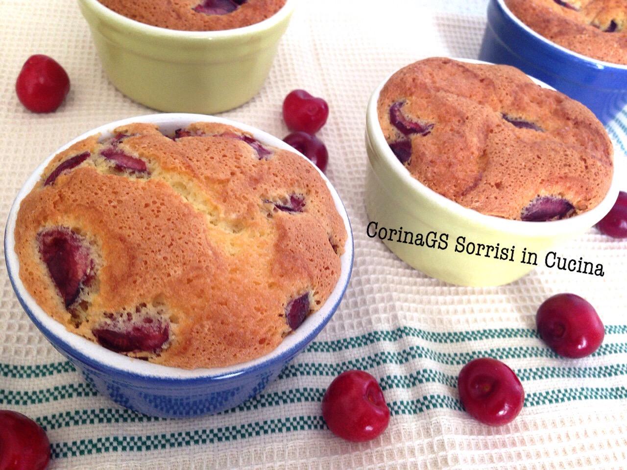 tortini alle ciliegie muffin ciliegie