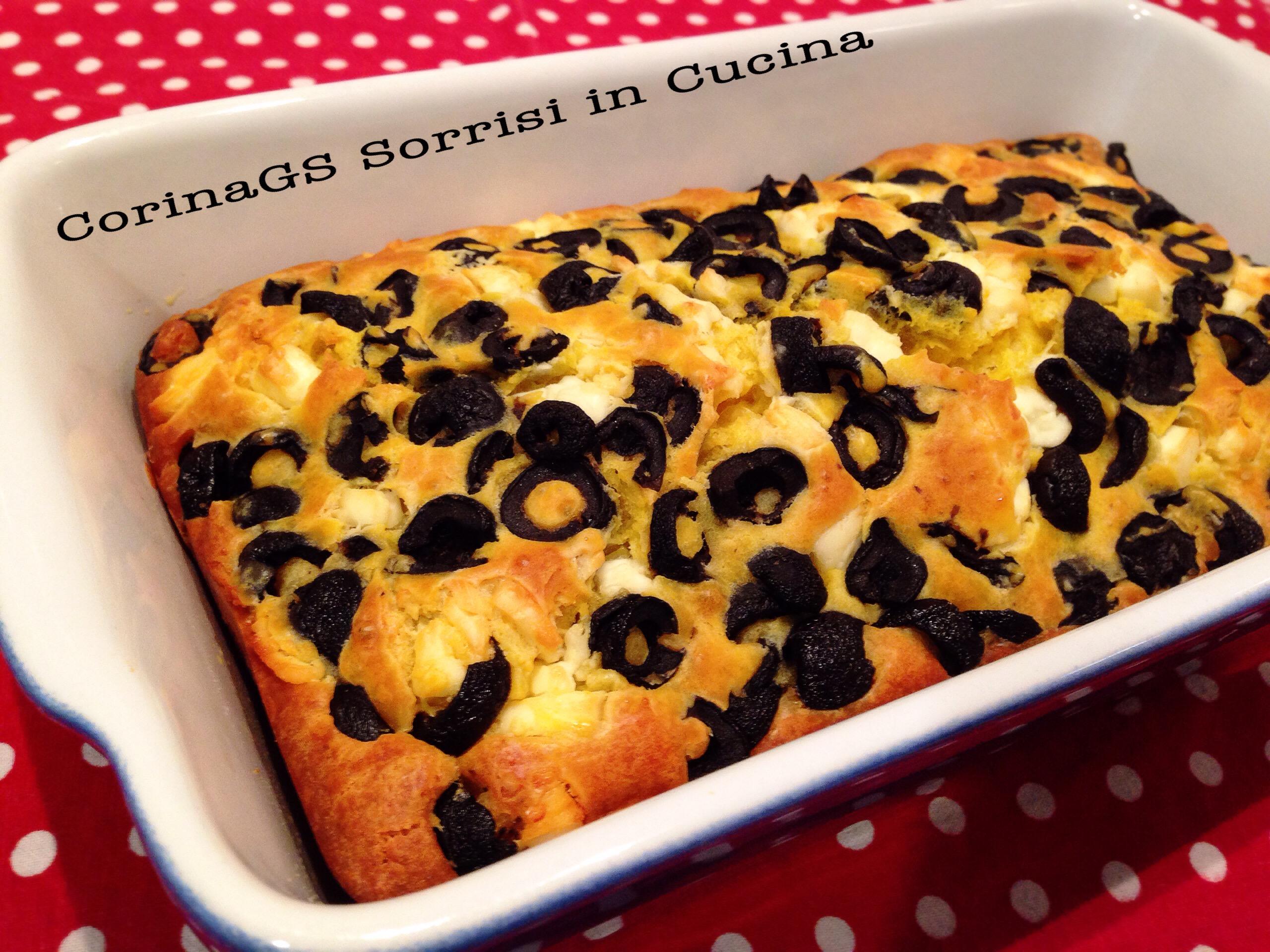 Plumcake salato con formaggio e olive|CorinaGS