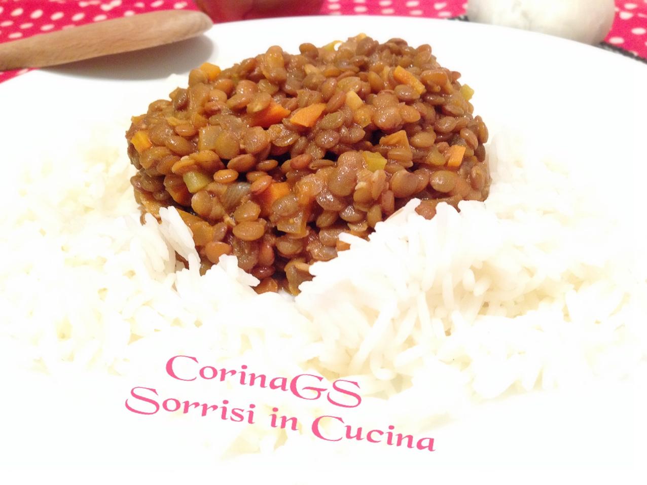 Lenticchie al curry con riso basmati|CorinaGS