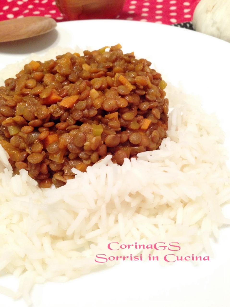 Lenticchie al curry con riso basmati