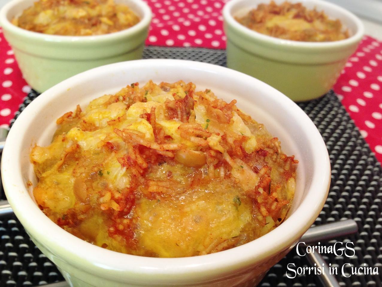 Tortino di riso e mozzarella al curcuma|CorinaGS