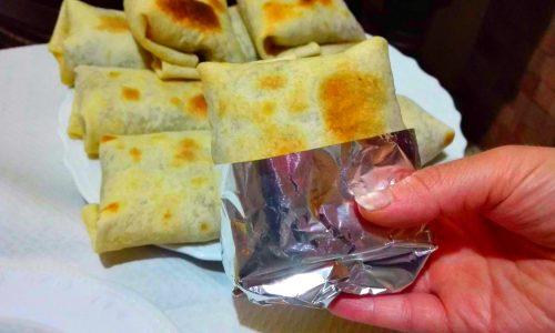 Burritos con carne e fagioli