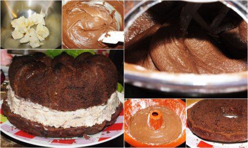 Corona al cacao, con crema alla ricotta e wafer