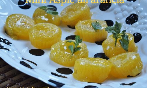 Mini aspic all'arancia