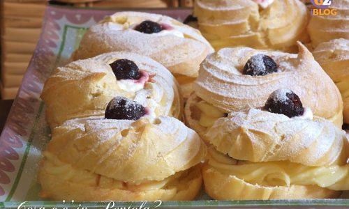 Zeppole di San Giuseppe con crema pasticcera