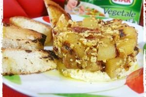 Tortino di uova e patate ubriache