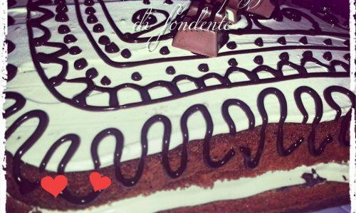 Torta all'arancia e cacao con Chantilly e pezzetti di fondente