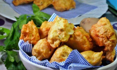 Polpette di patate con cuore filante al formaggio