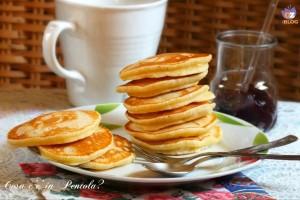 Pancakes con acqua