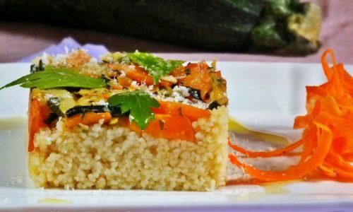 Cous cous aromatico, carote e zucchine