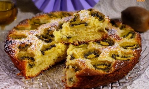 Torta morbida Kiwi e mascarpone