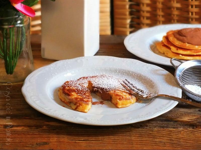 Pancakes dal cuore morbido al cioccolato - no nutella