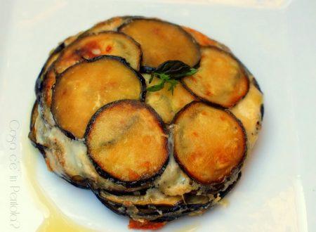 Parmigiana bianca di zucchine, melanzane e menta