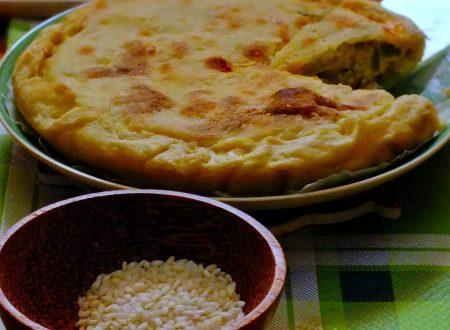 Torta di zucchine e riso