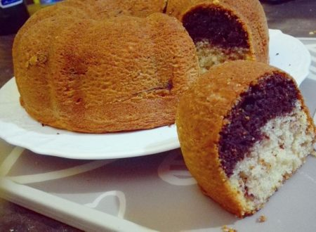 Torta bicolore magica